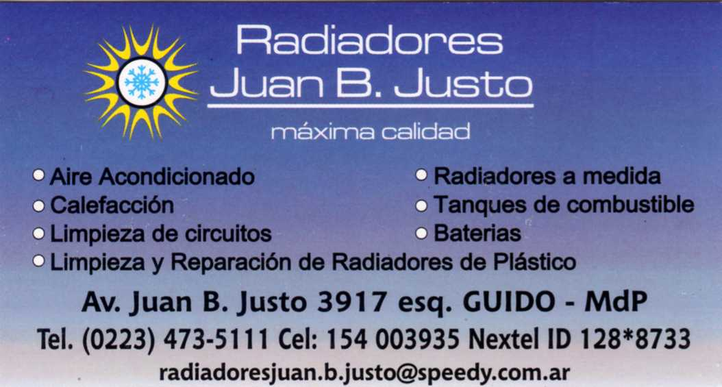 Radiadores Juan B. Justo